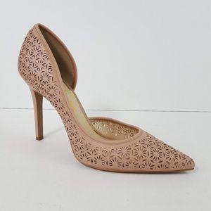 {Jessica Simpson} Claudette Blush Laser Cut Heels